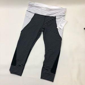 Athleta Pants - Athletes Striped Relay Capris